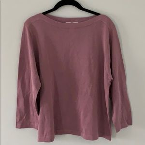 NWT Coldwater Creek Boatneck Silk Sweater